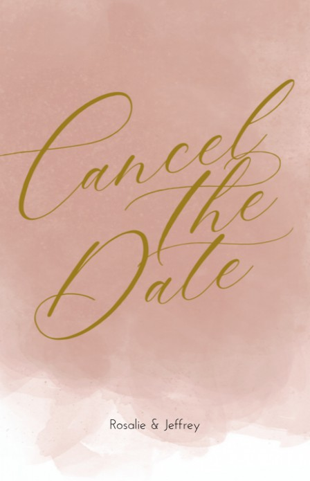 Cancel the date - Goudtint Watercolor Pink voor