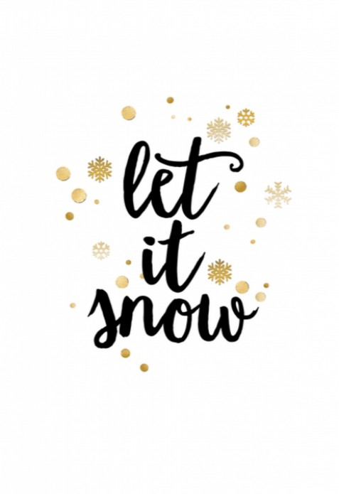 Kerstkaart - Let it snow voor