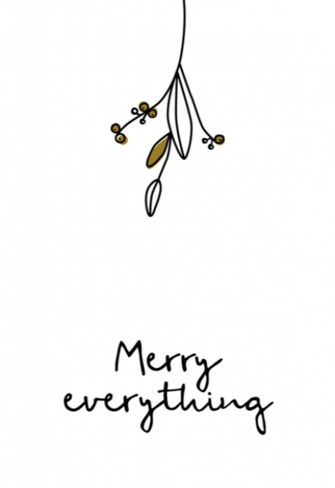 Kerstkaart - Merry Everything voor