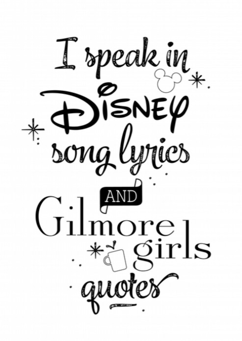 Miniposter Disney and Gilmore Girls Lover voor
