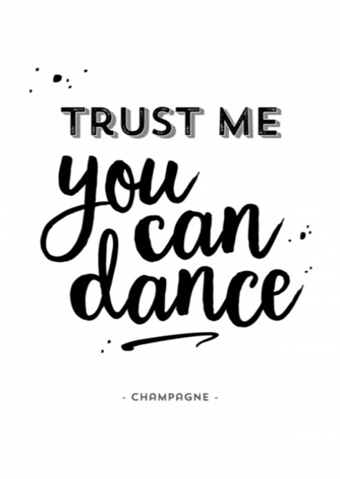 Miniposter - You can dance voor