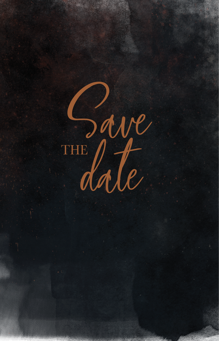 Save the date - Dark and Moody Sky voor