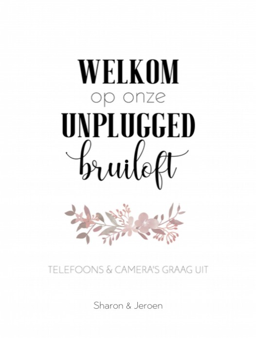 Poster 30x40 - Boho Roze Unplugged voor