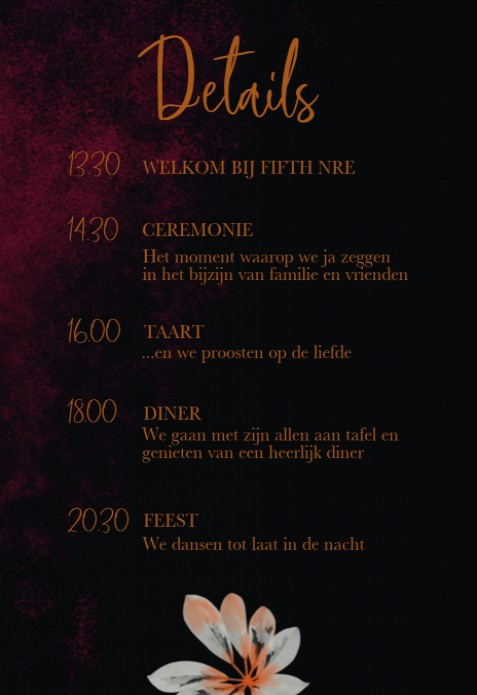 Programmakaart - Dark and Moody Flowers voor