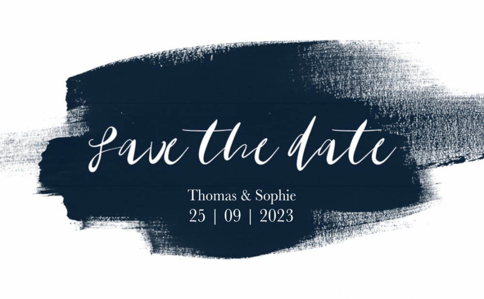 Save the date - Midnight Blue 1 voor