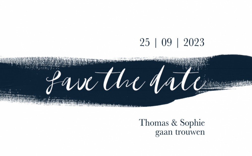 Save the date - Midnight Blue 3 voor