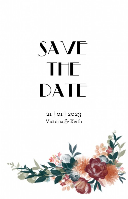 Save the date - Opulence Velvet voor