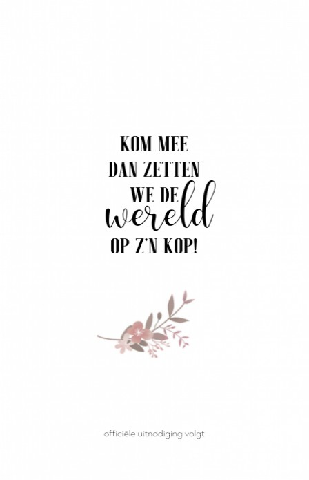 Save the date - Puur Natuur Boho Roze achter