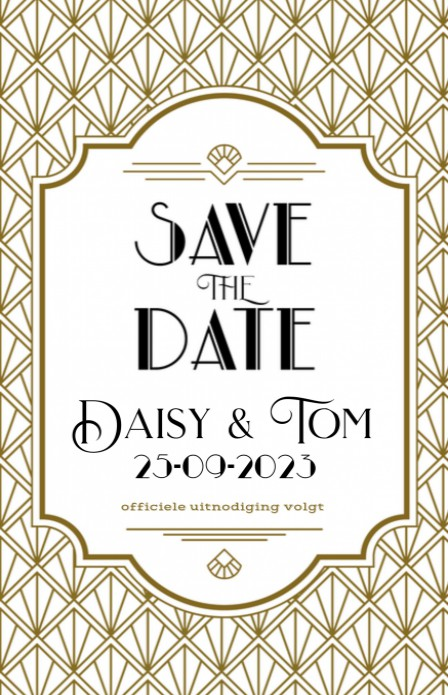 Save the date - The Great Gatsby 1 voor