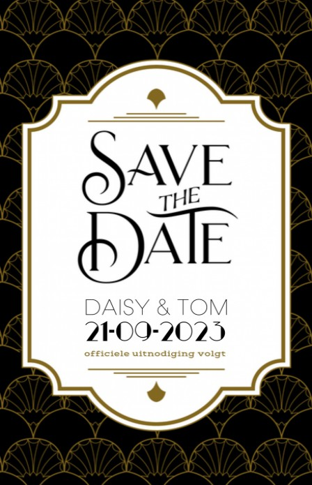 Save the date - The Great Gatsby 2 voor