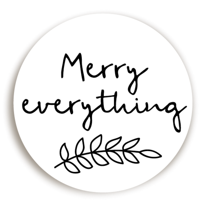 Sticker KERST Merry Everything voor