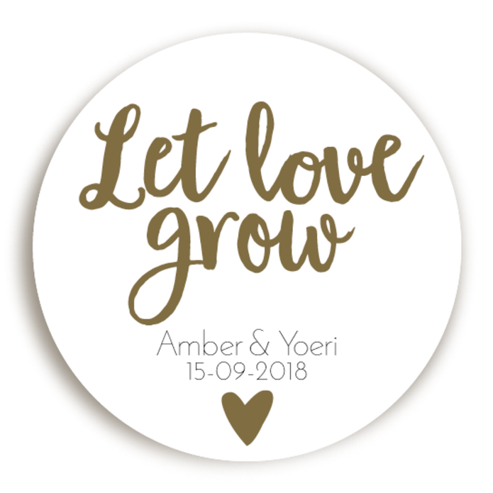 Sticker Let Love Grow Hartje 2 voor