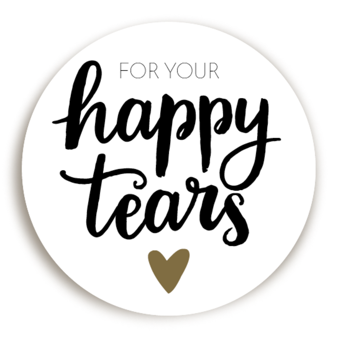 Sticker Happy Tears 2 voor