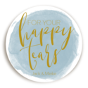 Sticker Happy Tears Watercolor Dusty Blue voor