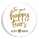 Sticker Happy Tears Hartje voor