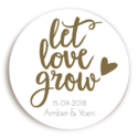 Sticker Let Love Grow Hartje 1