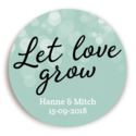 Sticker Let Love Grow Mint 1 voor