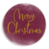 Sticker KERST Bordeaux Goud 1