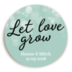 Sticker Let Love Grow Mint 1